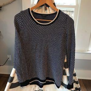 Talbots Hi Lo Sweater 💫 Black/Bl/Wt 💫 Small P